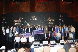 </h2><p>All participating startups on stage at Startup Nova</p>